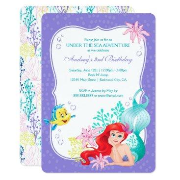 Ariel | Under the Sea Adventure Birthday Invitation