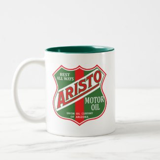 Aristo motor oil vintage sign reproduction mug
