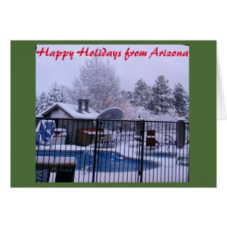 Arizona White Christmas Card