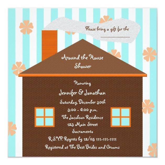 Around House Bridal Shower Invitations