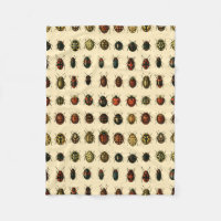 Array of Ladybirds Fleece Blanket