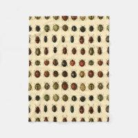 Array of Ladybirds Fleece Blanket