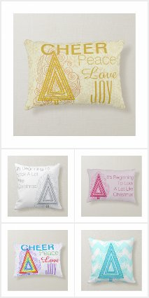 Art Christmas Tree Pillows