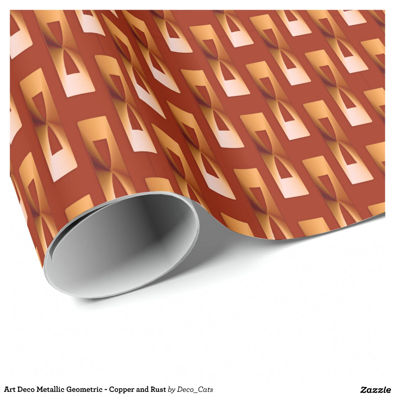 Metallic Copper Wrapping Paper