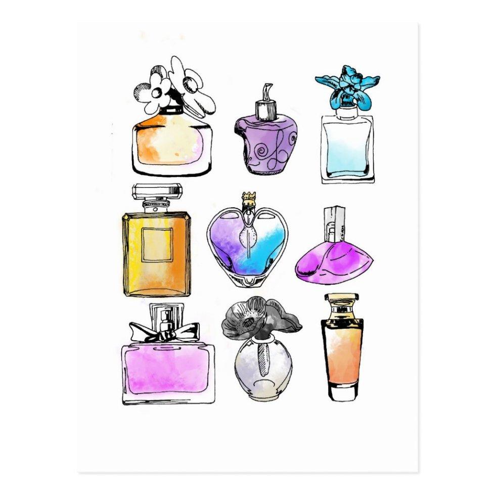 Art perfumes postcard