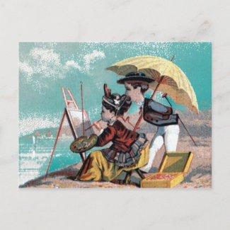 Artist at Work postcard