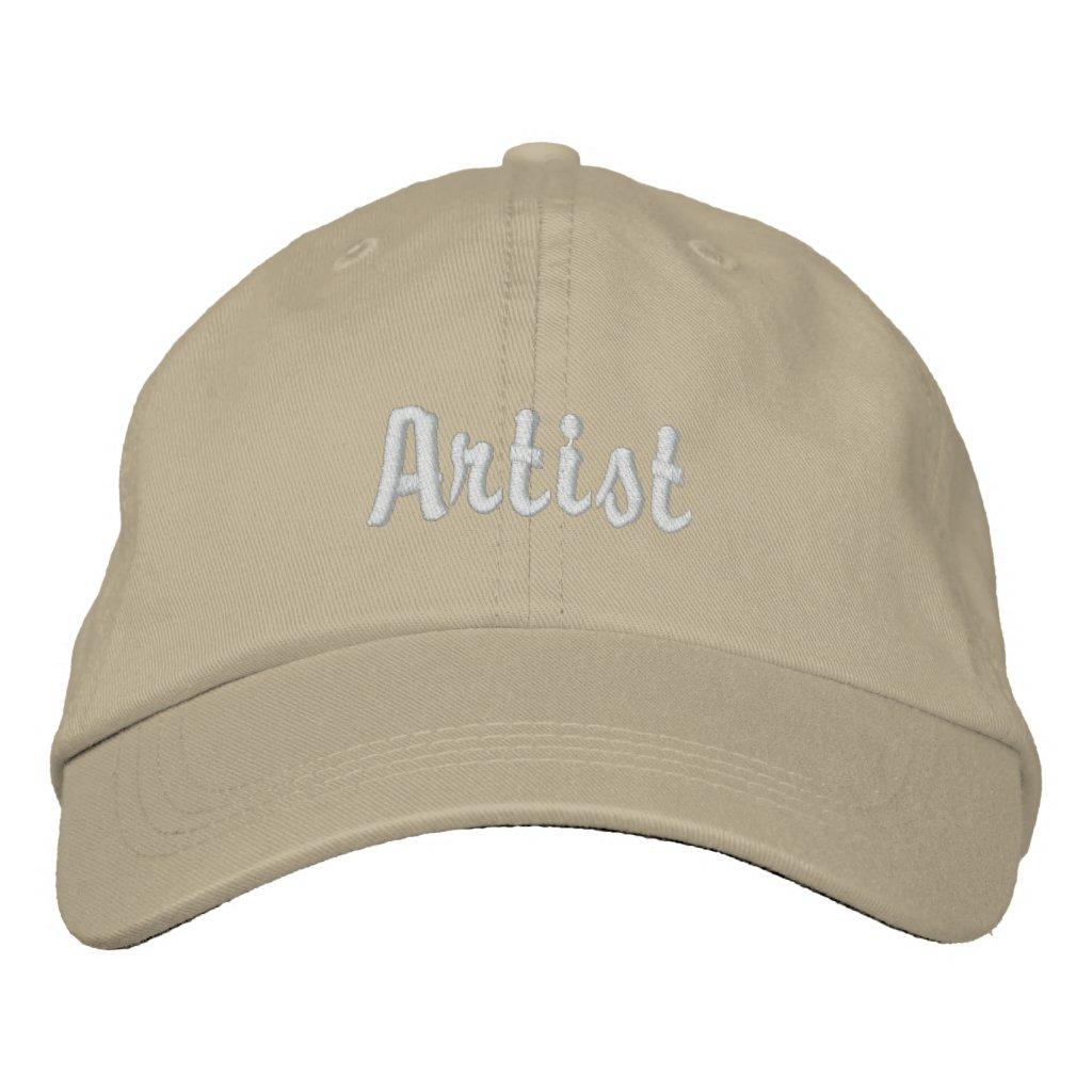 Artist Embroidered Baseball Cap