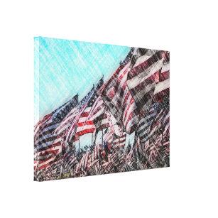 artistic flags art wall