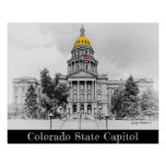 Artistic Black and White, Colorado State Capitol Poster