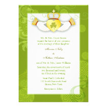 Artistic, Cute Claddagh Heart Irish Wedding Invite