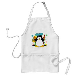 Artistic Penguin Aprons