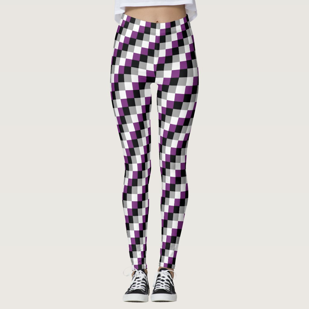 Asexual Flag Pixels LGBT Pride Gaymer Leggings