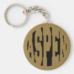 ASPEN - GOLD KEYCHAIN