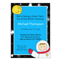 Astronaut Birthday Party Invitations