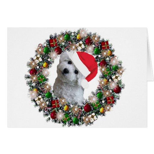 At Christmas Bichon Frise Stationery Note Card Zazzle