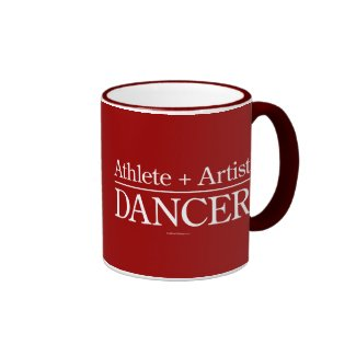 Athlete + Artist = Dancer Mugs