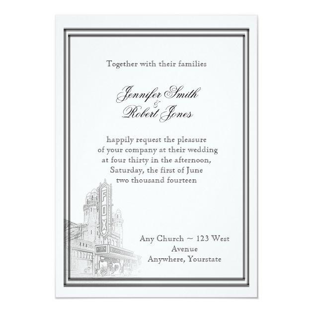 Atlanta Destination Wedding Invitation  Zazzlecom