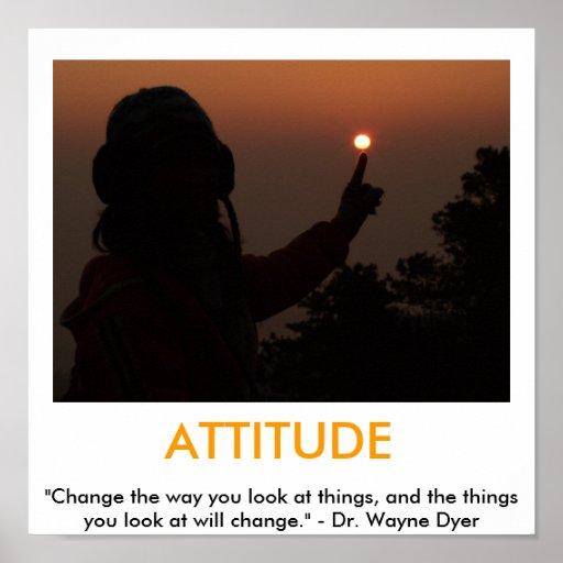 ATTITUDE motivational poster  Zazzle