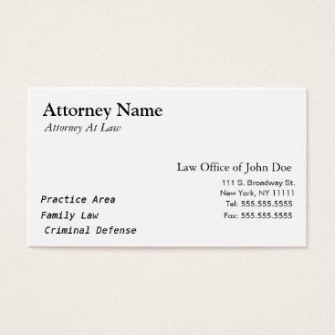 Attorney Modern - Simple, Clean, Elegant Business Card