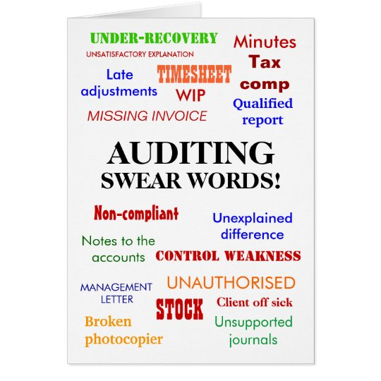 Internal Audit Humor Swear Words
