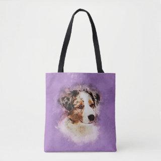 Australian Shepherd - Aussie Puppy Tote Bag