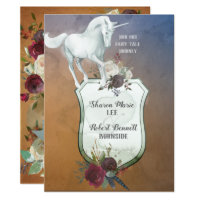 Autumn Fairy Tale UNICORN Card
