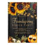 Autumn fall harvest barn wood friendsgiving dinner invitation