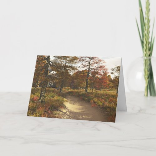 Autumn in the Country Greeting Card (Thanksgiving)