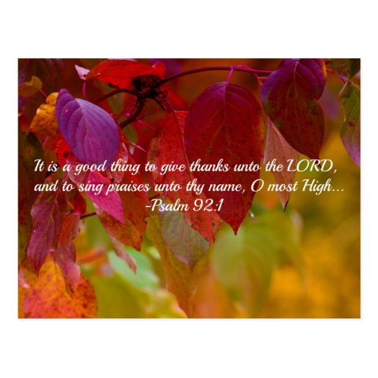 Central Park Fall Wallpaper Autumn Leaves Christian Bible Verse Psalms Postcard