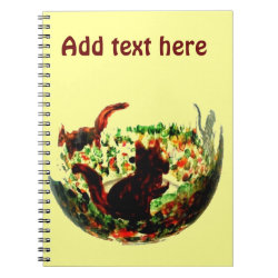 Autumn Squirrels Animal Art Notebook