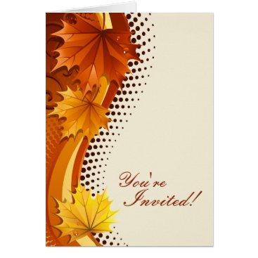 Autumn Thanksgiving Invitation Cards