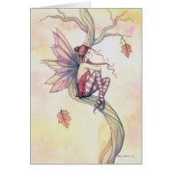 Autumn Tree Fairy Fantasy Art by Molly Harrison Cards