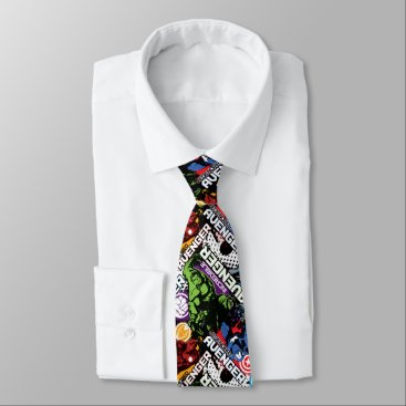 Avengers Character Pattern Neck Tie