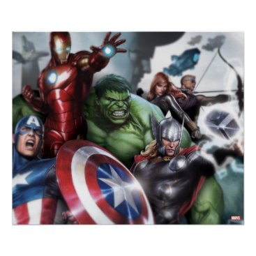 Avengers Classics | Poised For Battle Drawing Poster