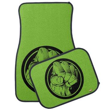 Avengers Hulk Fist Logo Car Floor Mat