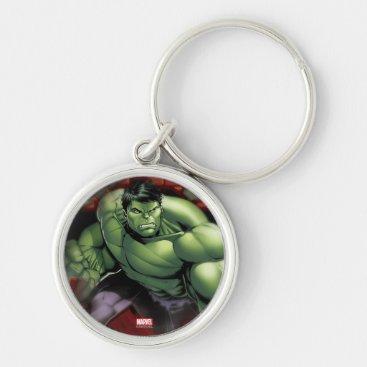 Avengers Hulk Smashing Through Bricks Keychain