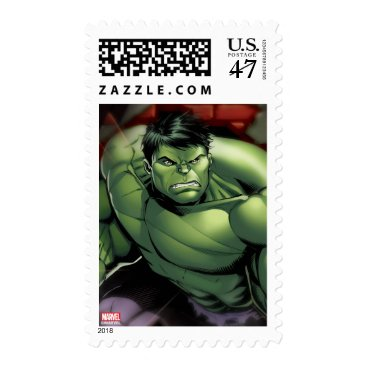 Avengers Hulk Smashing Through Bricks Postage