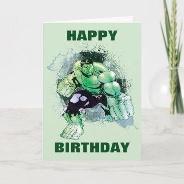 Avengers Hulk Watercolor Graphic Card
