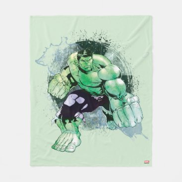 Avengers Hulk Watercolor Graphic Fleece Blanket