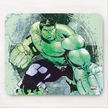 Avengers Hulk Watercolor Graphic Mouse Pad