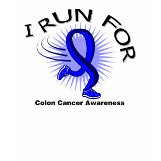 Awareness I Run For Colon Cancer shirt
