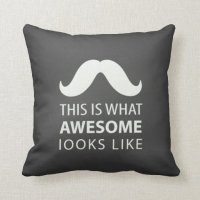 Awesome Mustache Pillows
