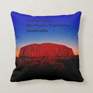 Ayres Rock Australia Throw Pillow