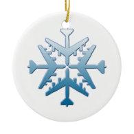 B-52 Aircraft Snowflake Christmas Tree Ornaments