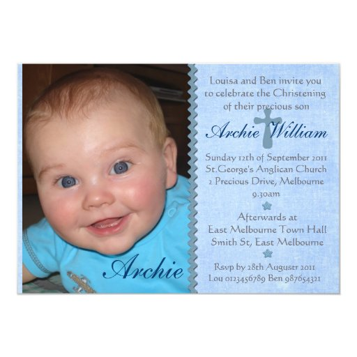 Unique Christening Invitations Boys