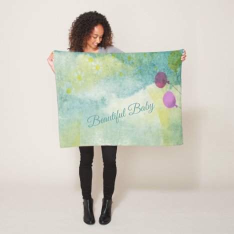 Baby Fleece Sherpa Blanket Shower by Mail Gift