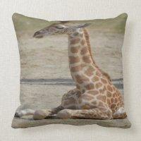 Baby Giraffe Throw Pillow | Zazzle