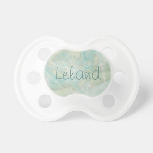 Baby Name in Turquoise BooginHead Pacifier