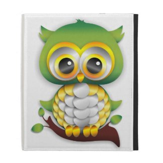 Baby Owl Paper Craft Universal iPad Folio Case