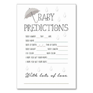 Baby Shower Gender Guessing Game Gifts on Zazzle